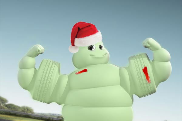 Zombie Santa Michelin Man